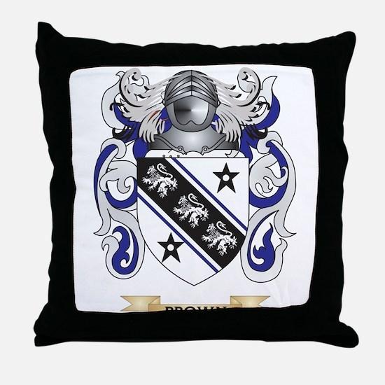 Brown Coat of Arms Throw Pillow