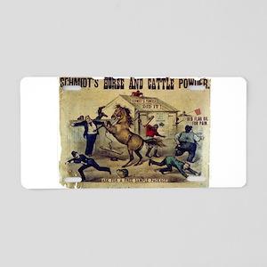 A little high strung - 1879 Aluminum License Plate