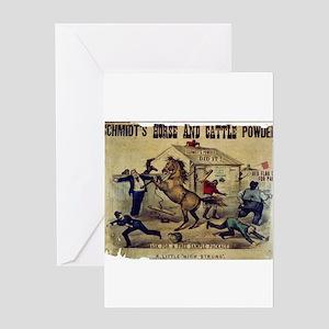 A little high strung - 1879 Greeting Card