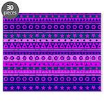 Purple Stripy Stars and Spots Pattern Puzzle