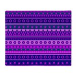 Purple Stripy Stars and Spots Pattern Throw Blanke