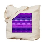 Purple Stripy Stars and Spots Pattern Tote Bag