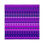 Purple Stripy Stars and Spots Pattern Queen Duvet