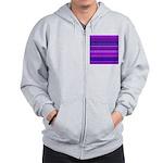 Purple Stripy Stars and Spots Pattern Zip Hoody