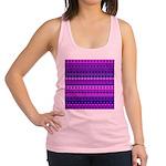 Purple Stripy Stars and Spots Pattern Racerback Ta