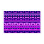 Purple Stripy Stars and Spots Pattern Wall Sticker