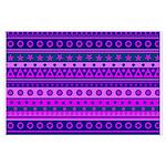 Purple Stripy Stars and Spots Pattern Poster Art