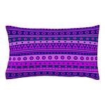 Purple Stripy Stars and Spots Pattern Pillow Case