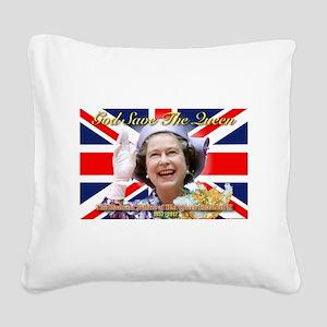 Queen Elizabeth Diamond Jubilee Square Canvas