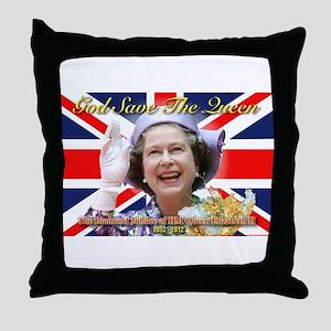 Queen Elizabeth Diamond Jubilee Throw Pillow