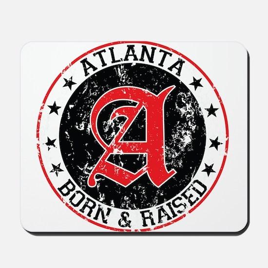 Atlanta born raised black Mousepad