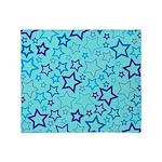 Blue Stars Throw Blanket