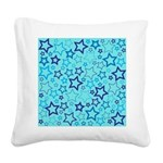 Blue Stars Square Canvas Pillow