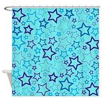 Blue Stars Shower Curtain