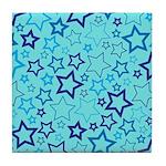 Blue Stars Tile Coaster