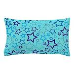 Blue Stars Pillow Case