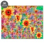 Hippie Psychedelic Flower Pattern Puzzle