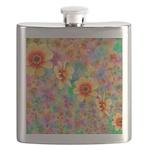 Hippie Psychedelic Flower Pattern Flask