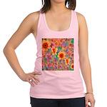 Hippie Psychedelic Flower Pattern Racerback Tank T