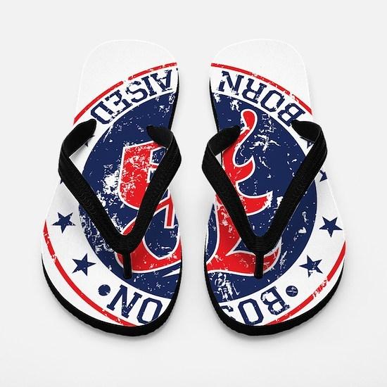 Boston born and raised red Flip Flops
