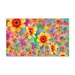 Hippie Psychedelic Flower Pattern Wall Sticker