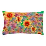 Hippie Psychedelic Flower Pattern Pillow Case