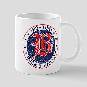 Boston born and raised red Mug