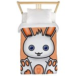 Kawaii Orange Bunny Twin Duvet