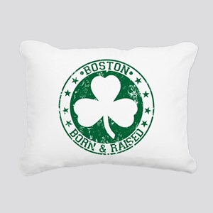 Boston clover born and raised green Rectangular Ca