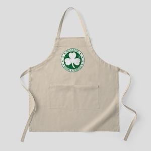 Boston clover born and raised green Apron