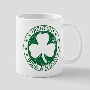 Boston clover born and raised green Mug