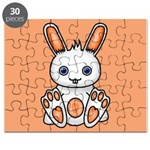 Kawaii Orange Bunny Puzzle