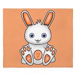 Kawaii Orange Bunny King Duvet