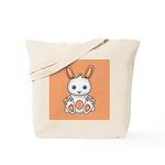 Kawaii Orange Bunny Tote Bag