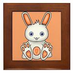Kawaii Orange Bunny Framed Tile