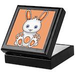 Kawaii Orange Bunny Keepsake Box