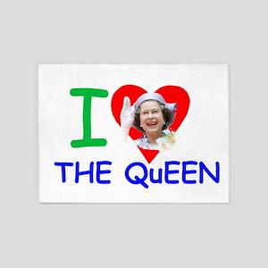 HM Queen Elizabeth II 5'x7'Area Rug