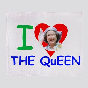 HM Queen Elizabeth II Throw Blanket