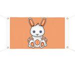 Kawaii Orange Bunny Banner
