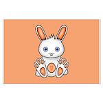 Kawaii Orange Bunny Poster Art