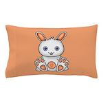 Kawaii Orange Bunny Pillow Case
