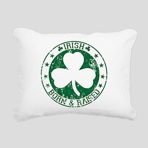 Irish born and raised Rectangular Canvas Pillow