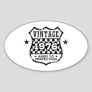 Vintage 1976 Sticker (Oval)