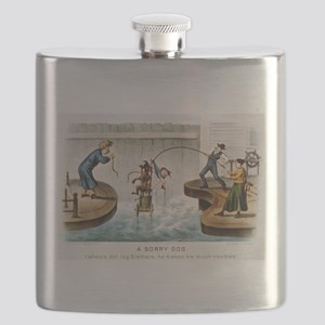 A sorry dog - 1888 Flask