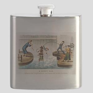 A sorry dog - 1888 Flask