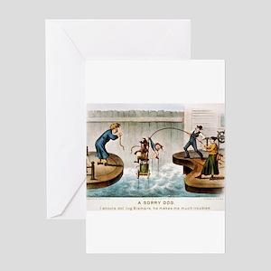 A sorry dog - 1888 Greeting Card