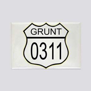 Grunt 0311 Rectangle Magnet