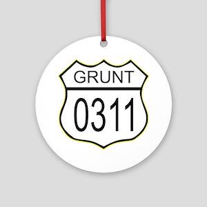 Grunt 0311 Ornament (Round)