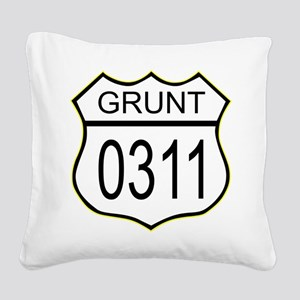 Grunt 0311 Square Canvas Pillow