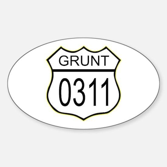 Grunt 0311 Sticker (Oval)